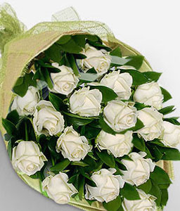 Crystalline-White,Rose,Bouquet