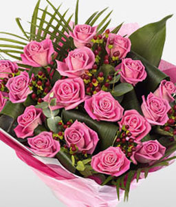 Strawberry Roses-Pink,Rose,Bouquet