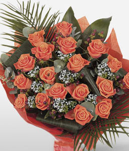 Timeless-Orange,Peach,Rose,Bouquet