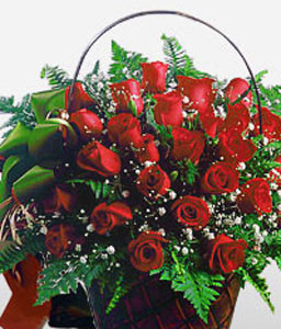 My Love With Stars-Red,Rose,Arrangement,Basket