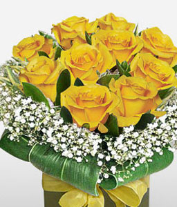 Charmer-Yellow,Rose,Arrangement