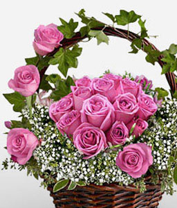 Pink Passion-Pink,Rose,Arrangement,Basket