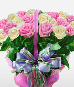 Great Wall Of Luxury-Pink,White,Rose,Bouquet