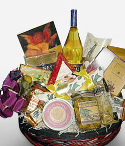 Elegant Indulgence-Chocolate,Gourmet,Basket,Hamper