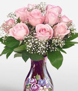 Pink Beauty-Pink,Rose,Arrangement