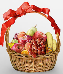 Fruits Freshly Picked-Fruit,Basket