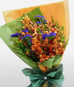 Regal Opulence-Yellow,Orchid,Bouquet