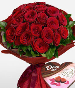 Emperors Extravagance-Red,Chocolate,Rose,Bouquet