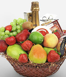 Clifton Celebrations-Fruit,Gourmet,Wine,Basket,Hamper
