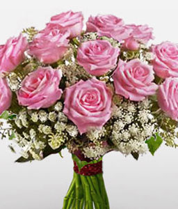 Charming-Pink,Rose,Bouquet