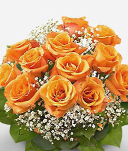 Dreamy Love-Orange,Rose,Bouquet
