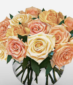 Thoughtful Expressions-Orange,Peach,Rose,Arrangement