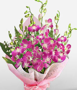 Bouquet Of Orchids-Pink,Purple,Orchid,Bouquet
