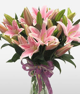 Shenzhen Sophistication-Pink,Lily,Bouquet