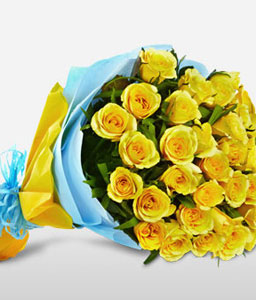 Goa Paradiso <Br><Font Color=Red>A Bunch Of 30 Yellow Roses</Font>