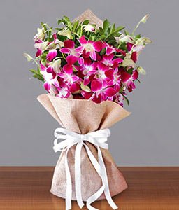 Orchid Bouquet-Purple,Orchid,Bouquet