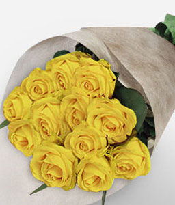 Halo-Yellow,Rose,Bouquet