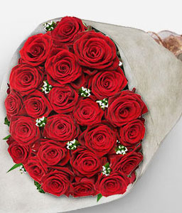 Flores De Mayo <Br><Font Color=Red>24 Red Roses</Font>