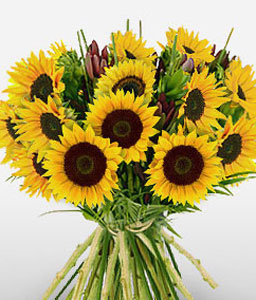 Sunrise Glow-Yellow,SunFlower,Bouquet
