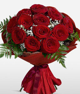 Stunning Red Roses-Red,Rose,Bouquet