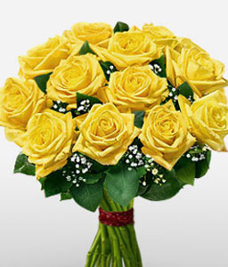 Radiant-Yellow,Rose,Bouquet
