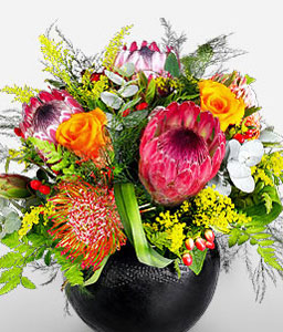 Safari Adventure-Mixed,Red,White,Yellow,Mixed Flower,Arrangement