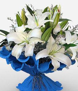 Chic Jiangsu-White,Lily,Bouquet