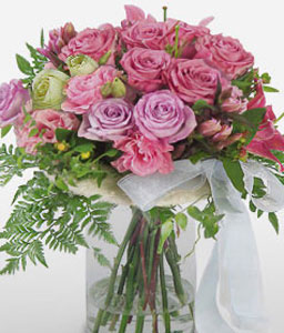 Coral Elegance-Pink,Rose,Arrangement