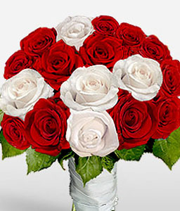 Chic Expressions-Red,White,Rose,Bouquet