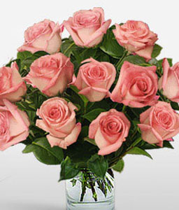 Strawberry Martini Sale $15 Off - One Dozen Roses-Pink,Rose,Bouquet