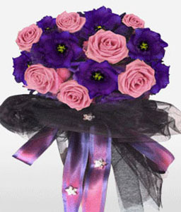Pisa-Pink,Purple,Rose,Bouquet