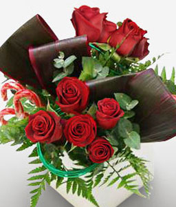 Rose Box-Red,Rose,Arrangement