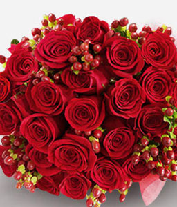 Enchanting Love-Red,Rose,Arrangement,Bouquet