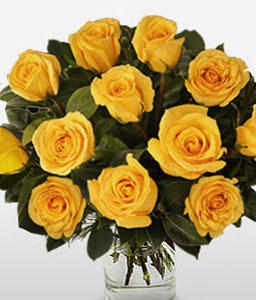 Yellow Dazzle-Yellow,Rose,Bouquet