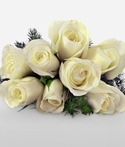 Poetry In Roses-White,Rose,Bouquet