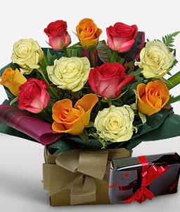 Carnival Passion-Mixed,Chocolate,Rose,Arrangement