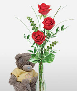 Teddy Roses-Red,Rose,Teddy,Bouquet