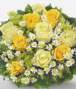 Osterfeuer-Yellow,Rose,Bouquet