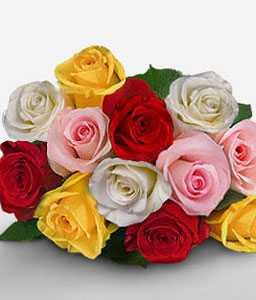 Grand Guadalajara-Mixed,Pink,Red,White,Yellow,Rose,Bouquet