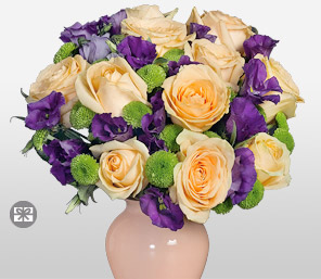 Tuscany-Peach,Purple,Violet,Rose,Arrangement