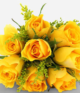 Golden Charm-Yellow,Rose,Bouquet