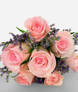 Pink Delight-Pink,Rose,Bouquet