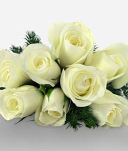 Innocent Elegance-White,Rose,Bouquet