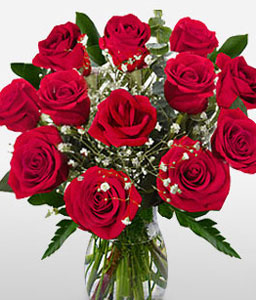 Say It With Flowers-Red,Rose,Arrangement