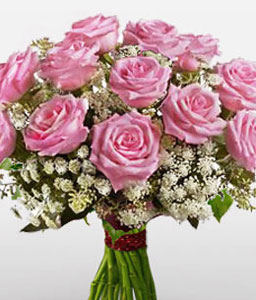 Illustrious Beauty-Pink,Rose,Bouquet