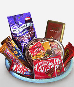 Chocolate Gift Hamper-Chocolate,Basket,Hamper