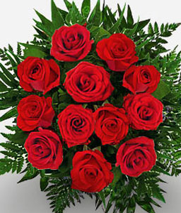 Sparkling Rubies <Br><Font Color=Red>12 Roses + 6 Free </Font>