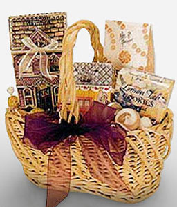 Chocolates And Cheers Hamper-Chocolate,Basket,Hamper
