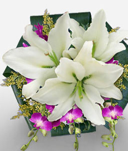 Swan Valley-Lavender,Purple,White,Lily,Orchid,Bouquet