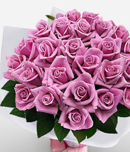 Lavish Love - 24 Pink Roses-Pink,Rose,Bouquet